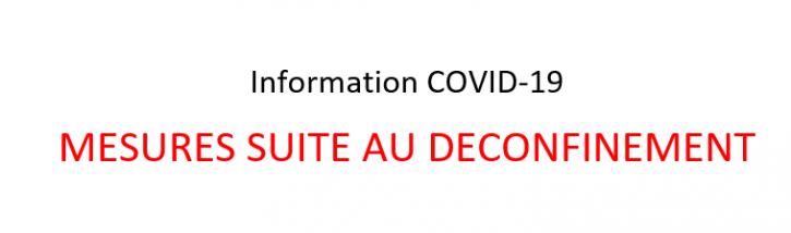 Information coronavirus - Déconfinement
