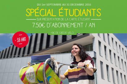 Offre abonnement VéliVert spécial étudiant