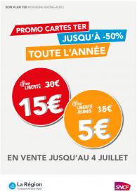 Promo Carte Illico Liberté TER AURA